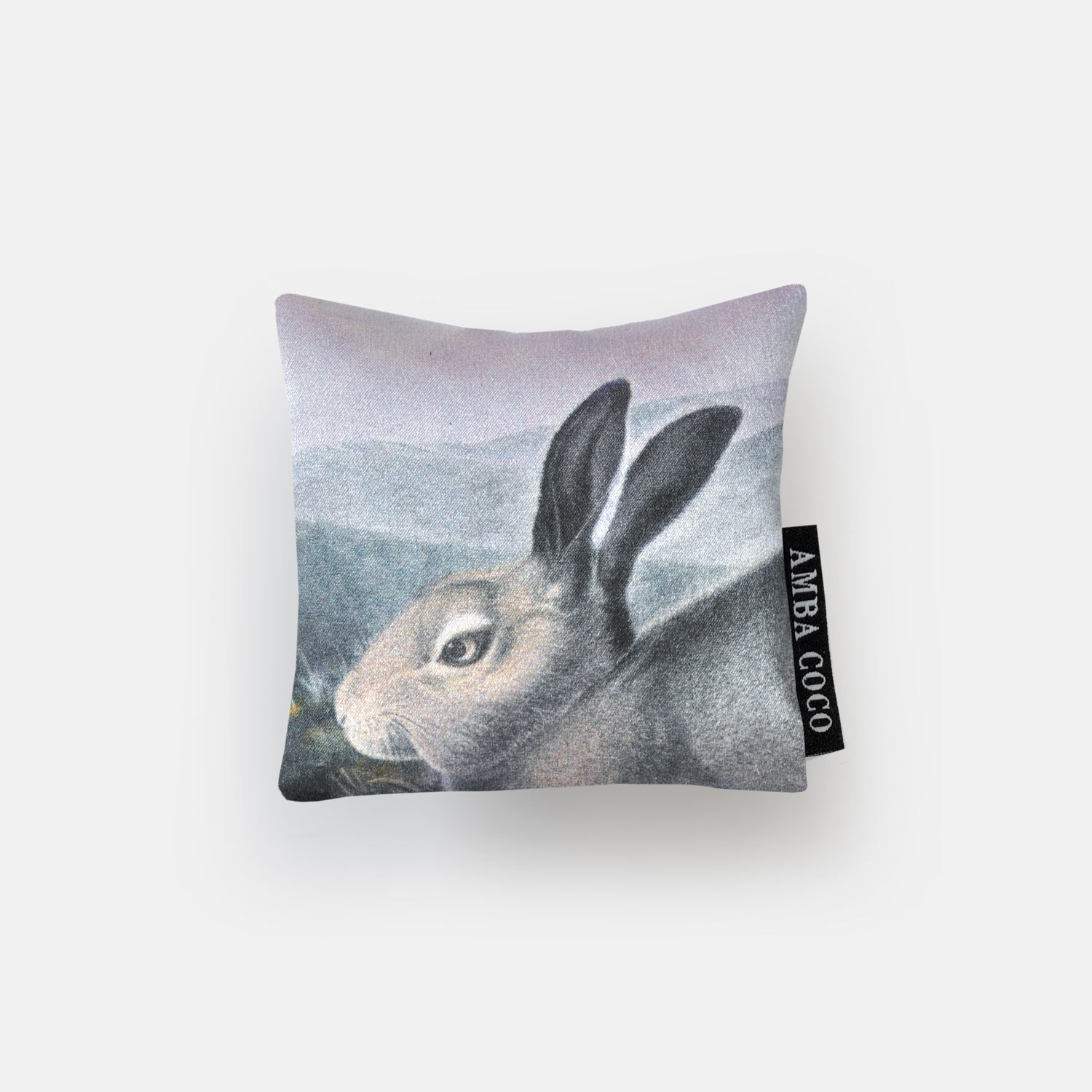 Wild Lilac Hare Silk Mini Dream Pillow