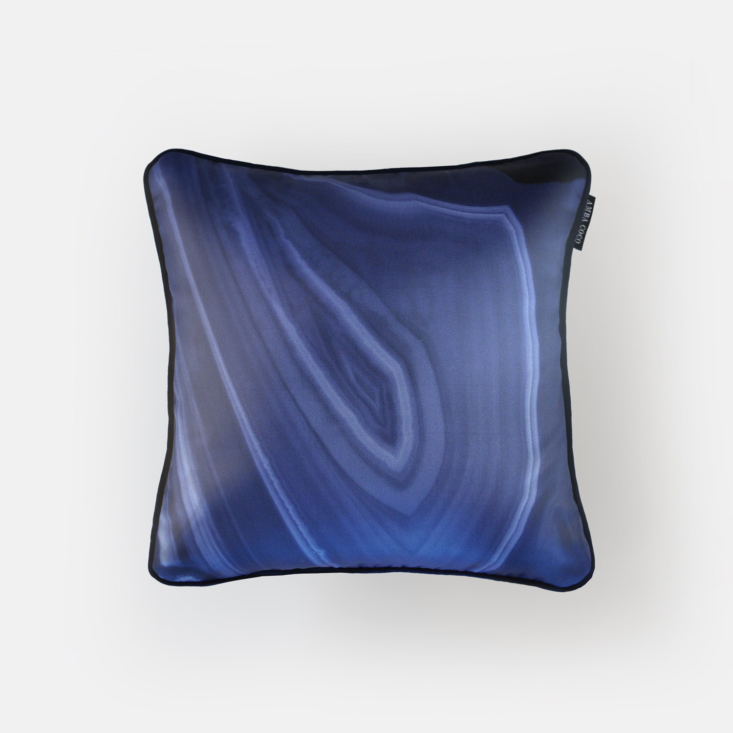 Brazilian agate silk throw pillow