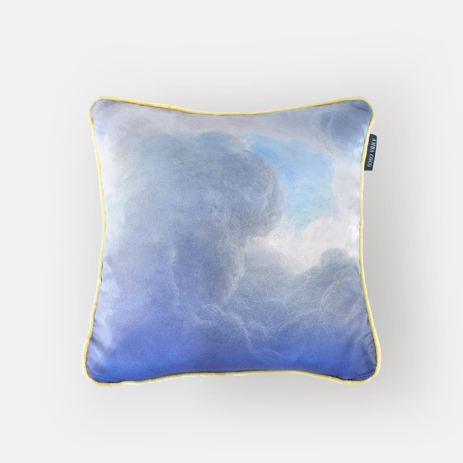 Golden lining clouds Silk Throw Pillow