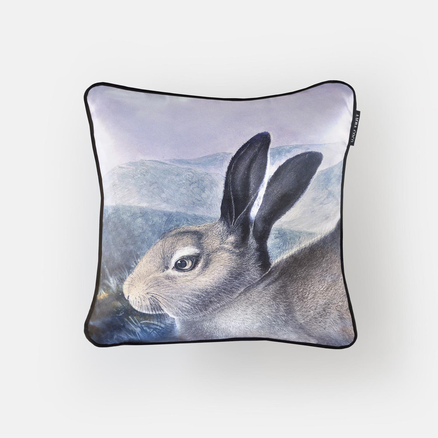 Wild Lilac Hare Silk Throw Pillow
