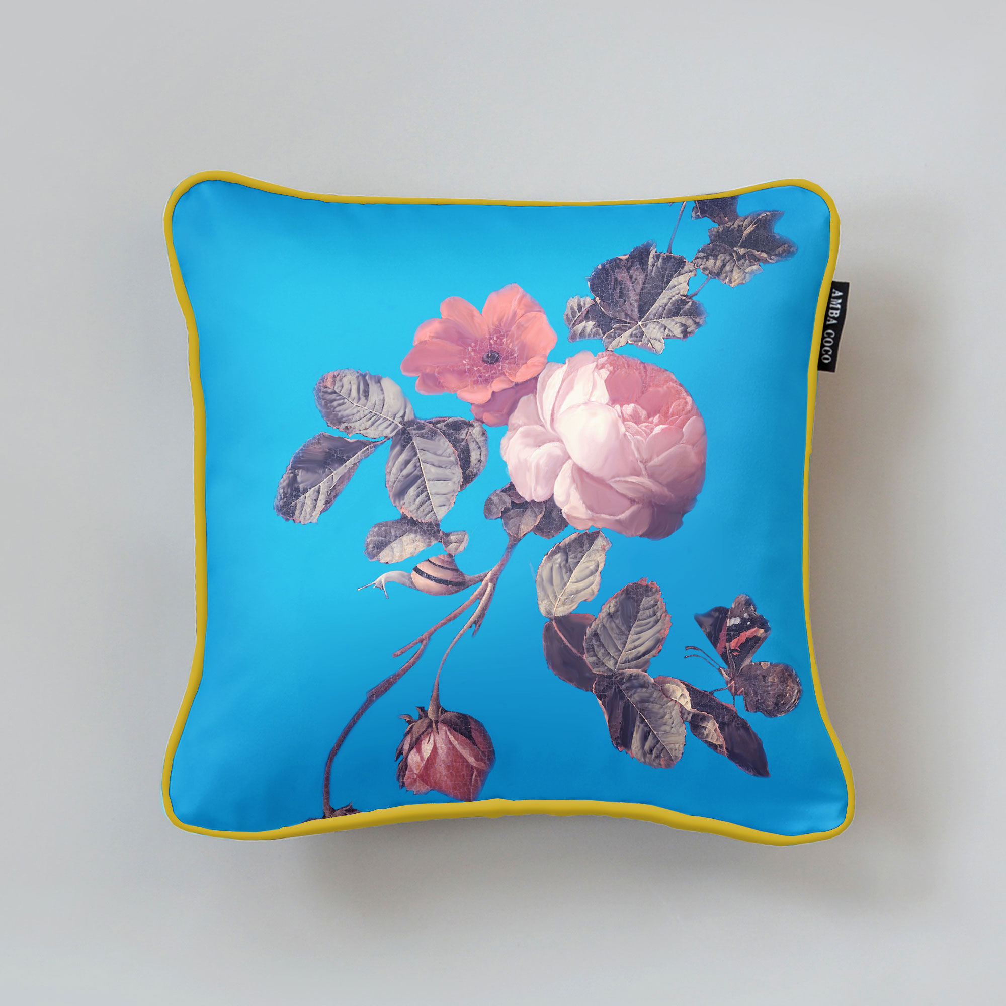 Broeck Roses Silk Throw Pillow