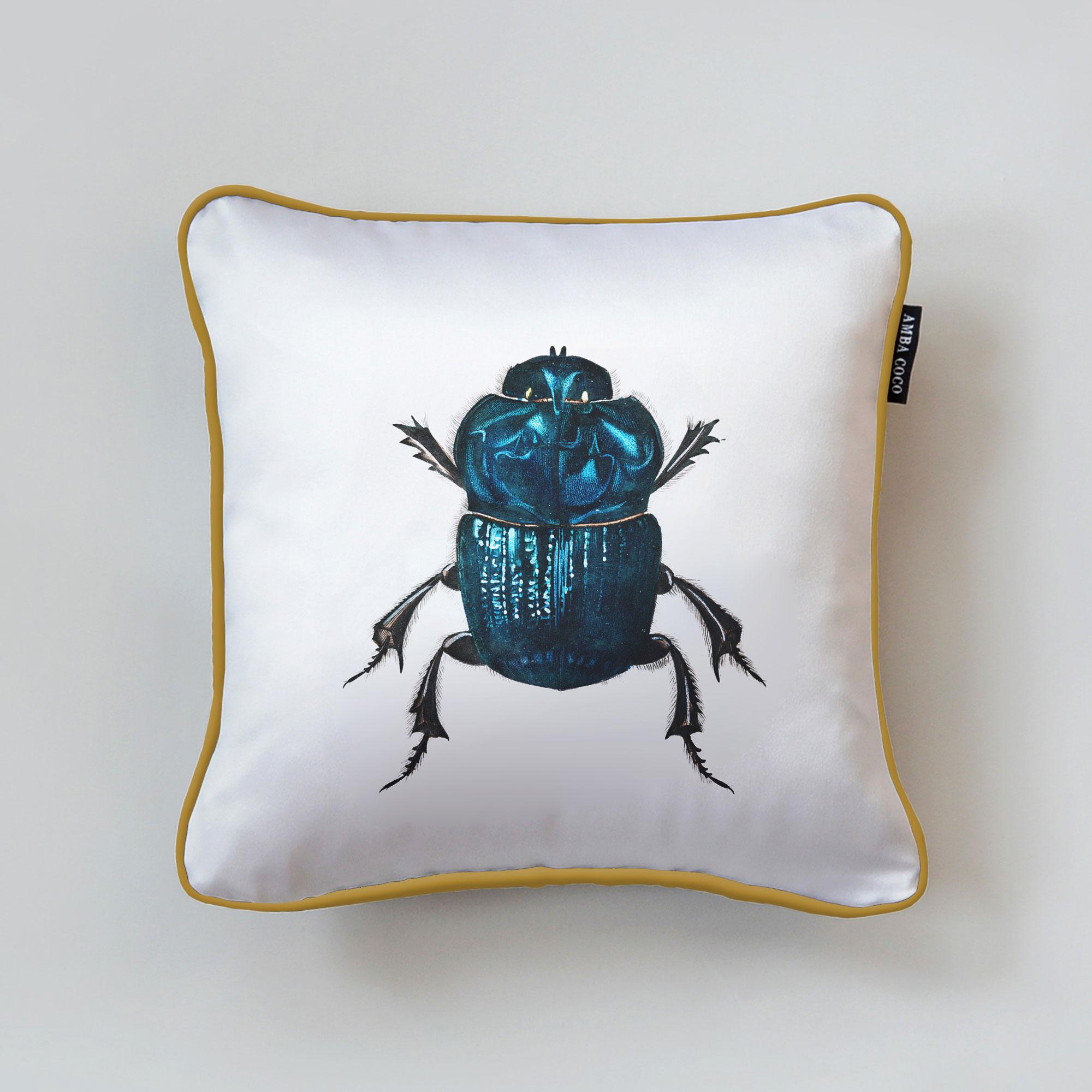 MG D' Orbigny Beetle Silk Throw Pillow