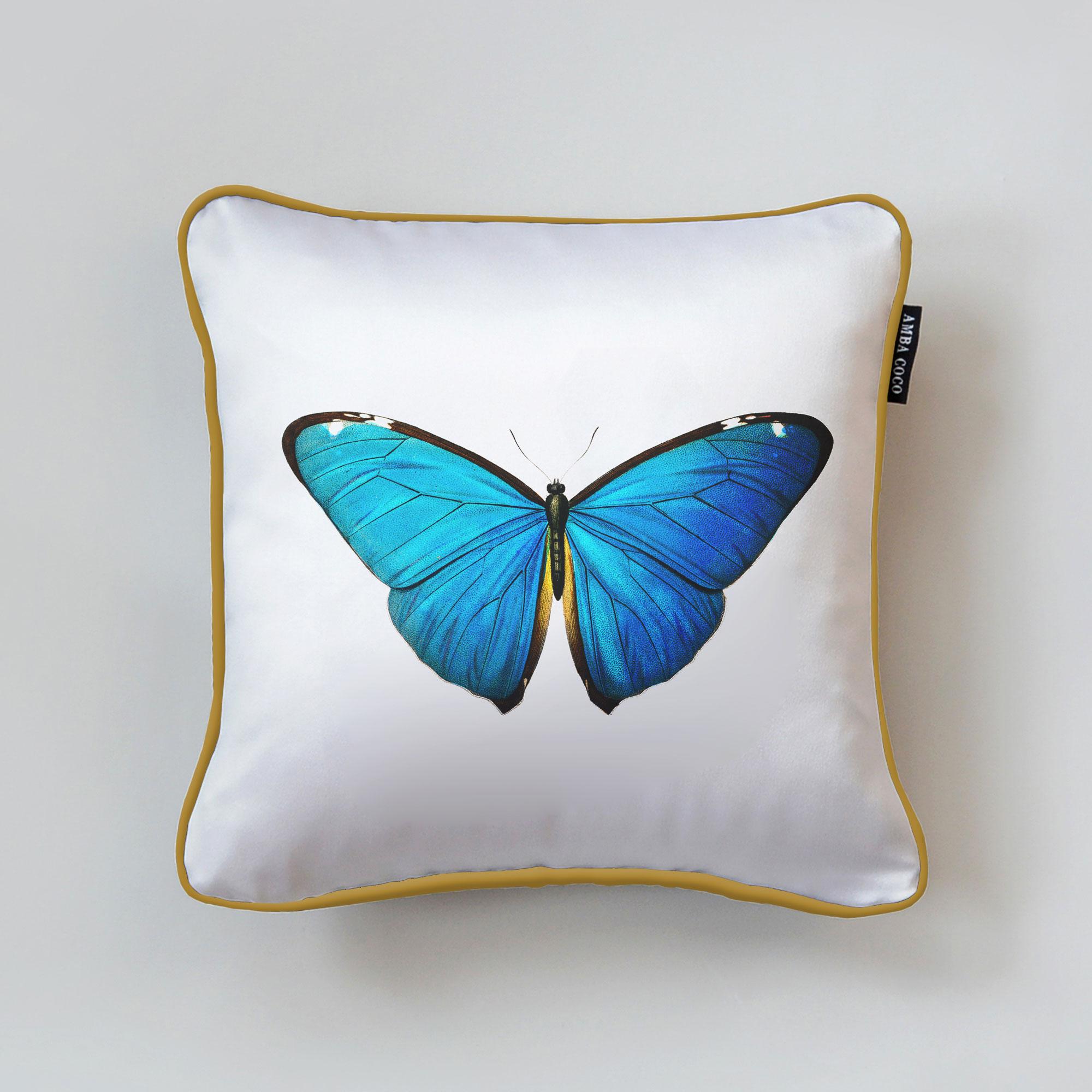 D' Orbigny Butterfly Silk Throw Pillow