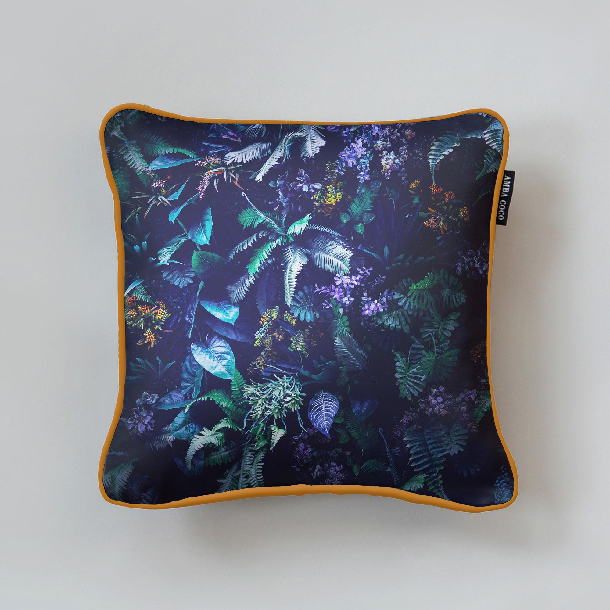 AMBA Garden Silk Throw Pillow