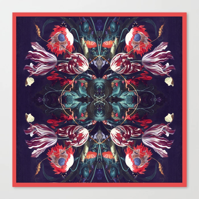 Red Floral Extravaganza Canvas Print