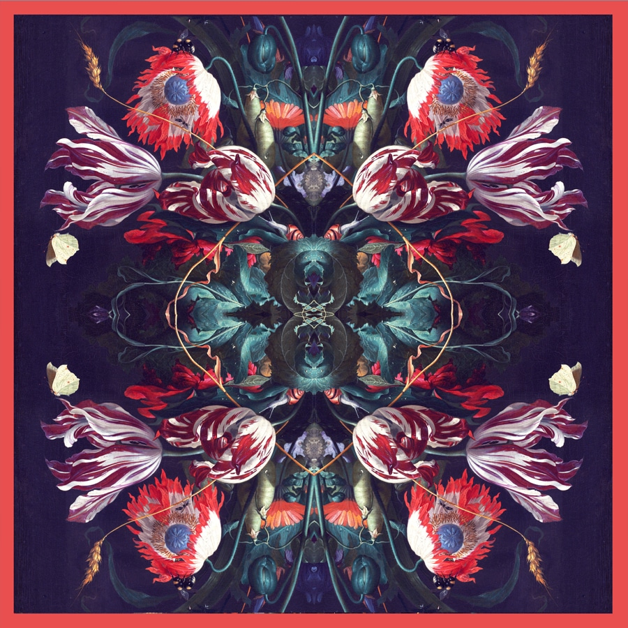 Red Floral Extravaganza