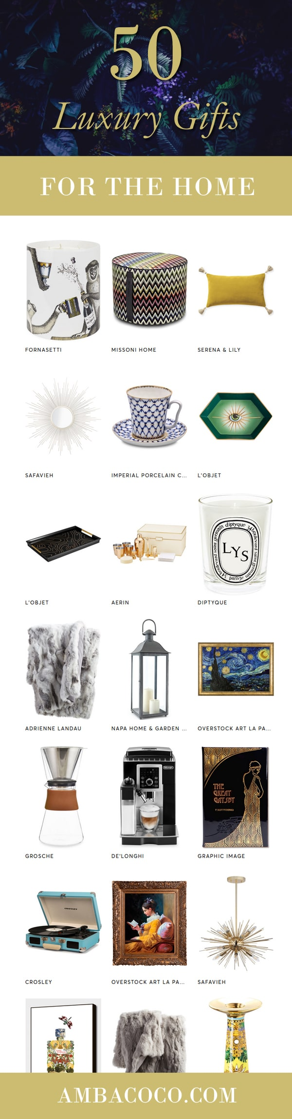 50 luxury gift ideas for the home
